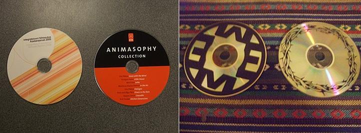 Värviline tindiprint ja siiditrükk / Print diski salvestisega poolel - siiditrükk ja termotrükk