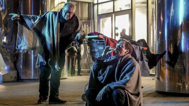 """Ago Anderson ja Mait Malmstein filmis """"Klassikokkutulek"""", millele kirjutas muusika Eesti helilooja Arian Levin."""