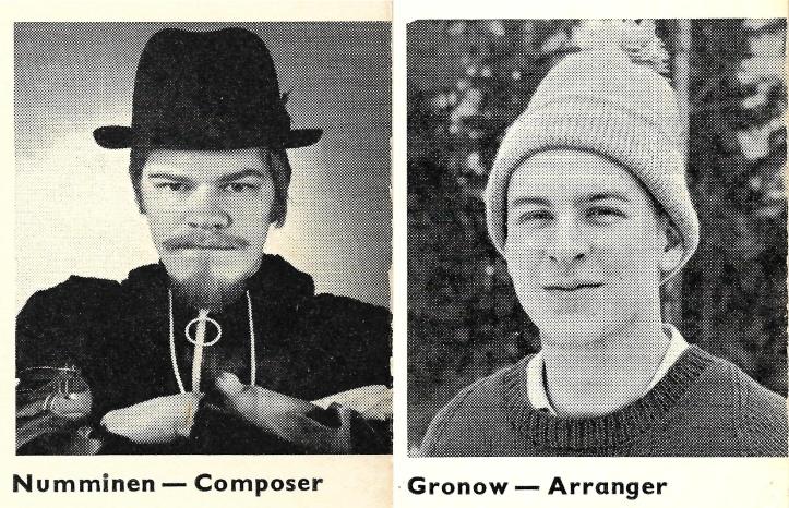 M. A. Numminen ja artikli autor aastal 1968.
