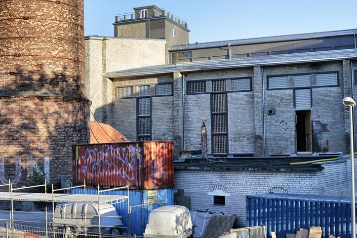 Vaade katuseterrassilt Kultuurikatla ehitusele.