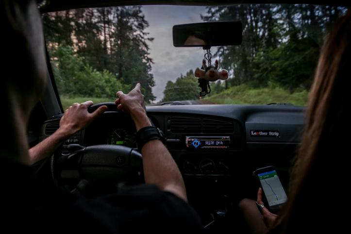 Kusagil tee peal, Läti ja Leedu piirist möödas. Hea mõte oleks olnud ka tagasi sõites GPS-i kasutada.