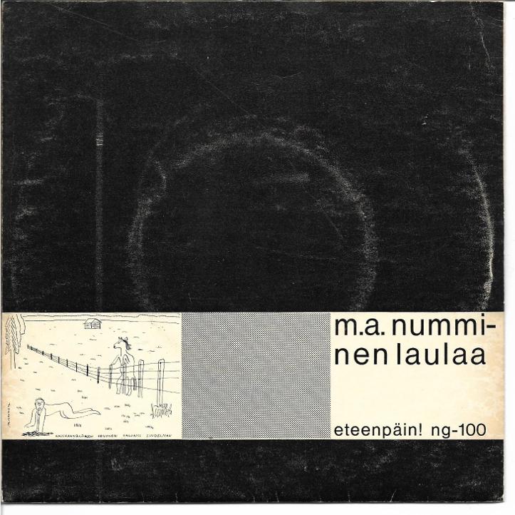 """Eteenpäini esimene reliis, """"M.A. Numminen Laulaa"""", 1966, 7"""" EP"""